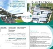 Collège Notre-Dame à Saint-Jean d'Ardières - Invitation