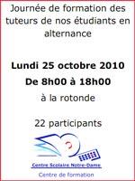 Journée de formation des tuteurs de nos étudiants