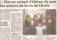 Election du Conseil d'école à Saint-Nicolas