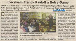 Franck Pavloff à Notre-Dame