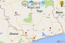 La carte de la mission 2013