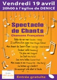 Concert de chants - 19 avril 2013 - 20h
