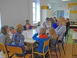 Les élèves en réunion.