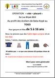 Opération Vide placard pour les enfants de Baka Kopé au Togo