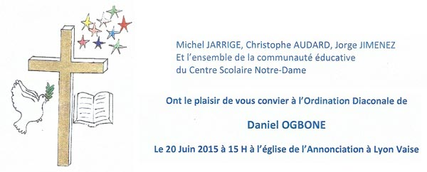 Ordination diaconale de Daniel OGBONE