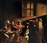 La Vocation de Saint-Matthieu (L'appel de Lévi / Matthieu) de Caravage - 1600