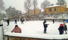 Fou rire dans la neige