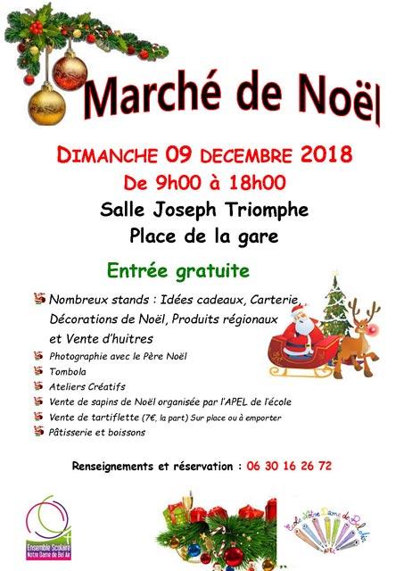 Marché de Noël de l'Ensemble Scolaire Notre-Dame de Bel Air