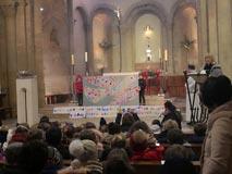 Célébration de Noël à l'école Notre-Dame de Belleville