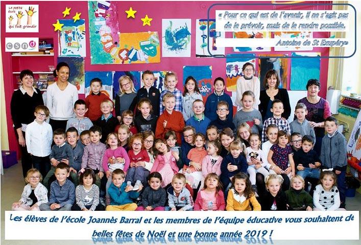 Vœux de l'école Joannès Barral