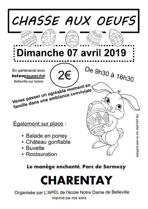 Chasse aux œufs - Pâques 2019