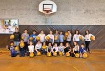 Basket pour les CE2 à Belleville en Beaujolais