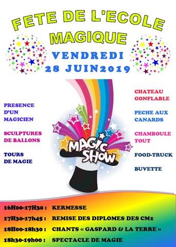 Une kermesse magique 2019 à Belleville en Beaujolais