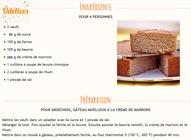 Recette Gâteau ardéchois aux marrons