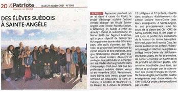 Le Patriote Beaujolais du 21/10/2021