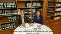 Signature du traité de fusion à Villefranche s/S