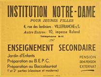 Affiche Institution Notre-Dame