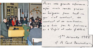 Cardinal Albert Decourtray au lycée 1988