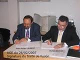 Signature du traité de fusion absorption entre CSND et NDDM - 26/02/2007