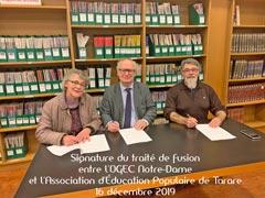 Signature du Traité de fusion